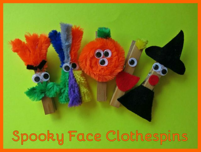 Spooky Face Clothespins 2